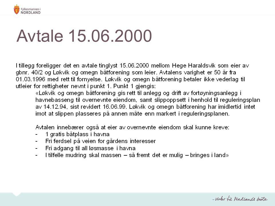 Avtale 15.06.2000
