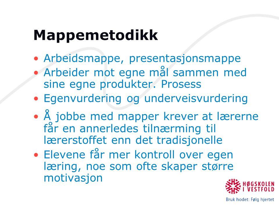 Mappemetodikk Arbeidsmappe, presentasjonsmappe
