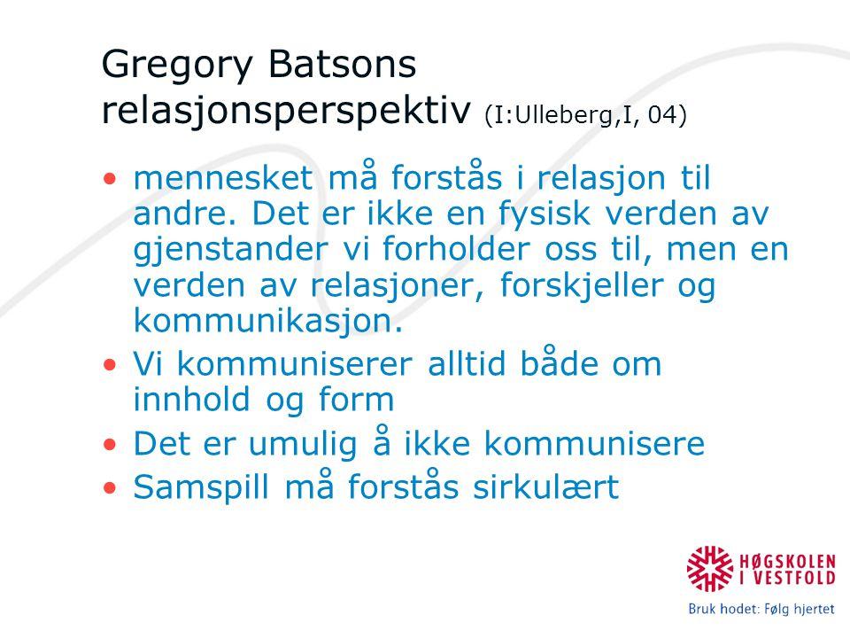 Gregory Batsons relasjonsperspektiv (I:Ulleberg,I, 04)