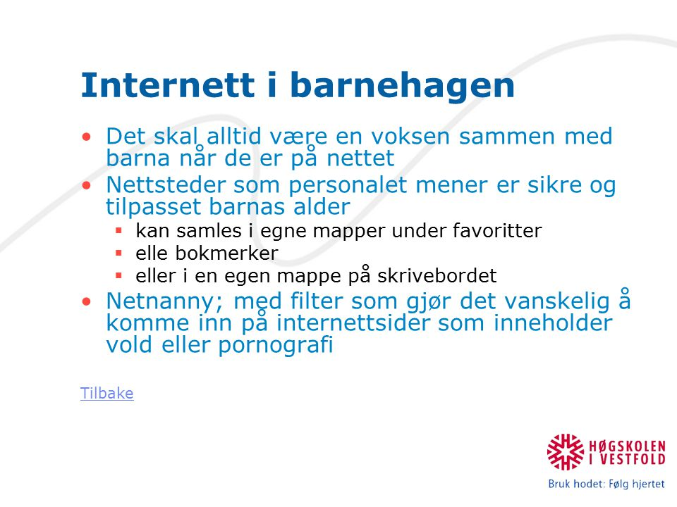 Internett i barnehagen