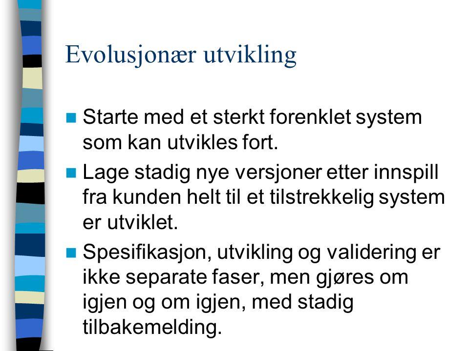 Evolusjonær utvikling
