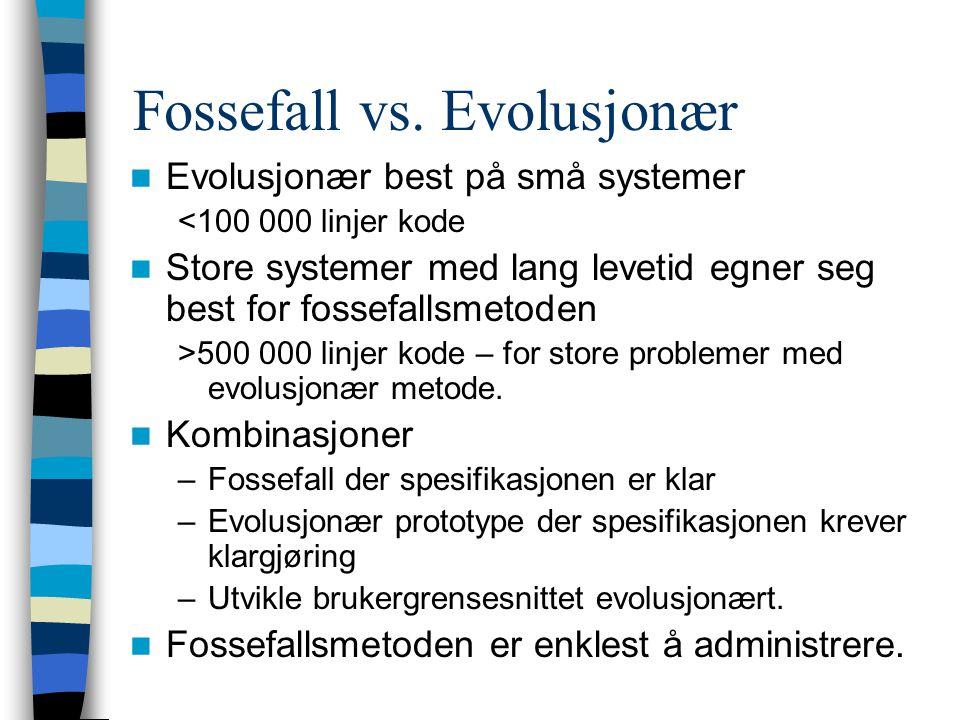 Fossefall vs. Evolusjonær