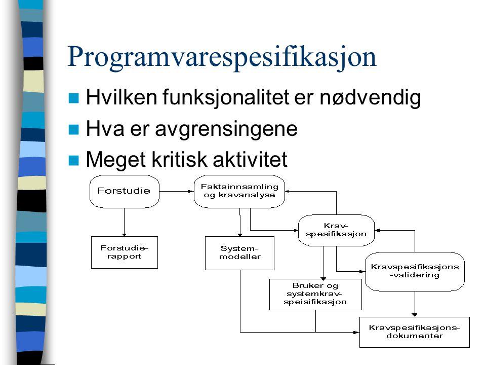 Programvarespesifikasjon