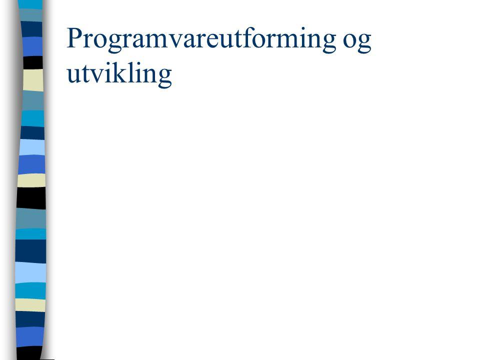 Programvareutforming og utvikling