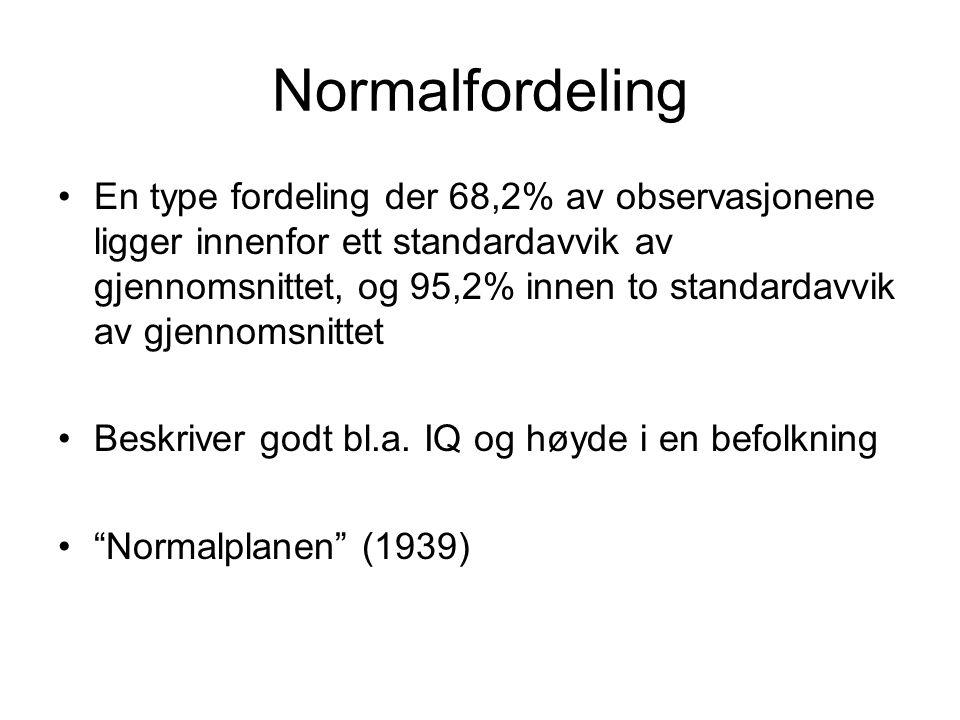 Normalfordeling