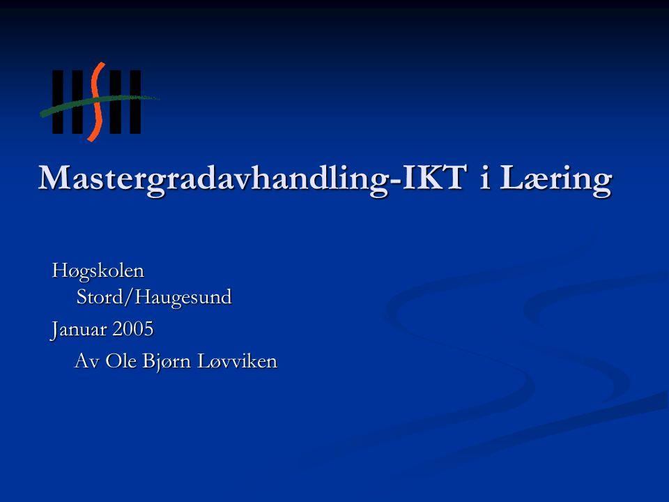 Mastergradavhandling-IKT i Læring