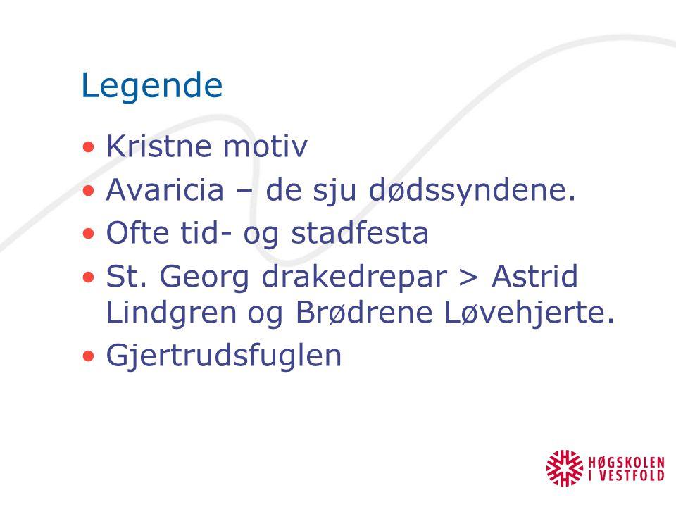 Legende Kristne motiv Avaricia – de sju dødssyndene.