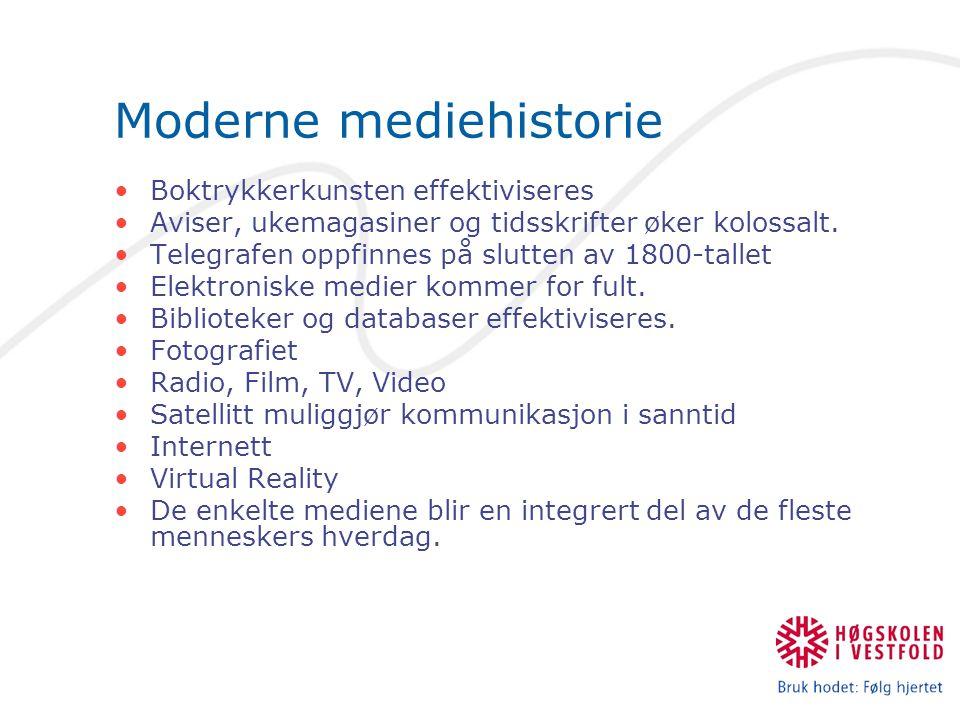 Moderne mediehistorie