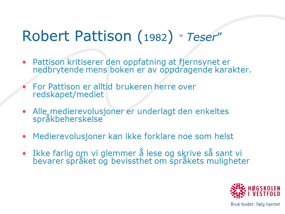 Robert Pattison (1982) Teser
