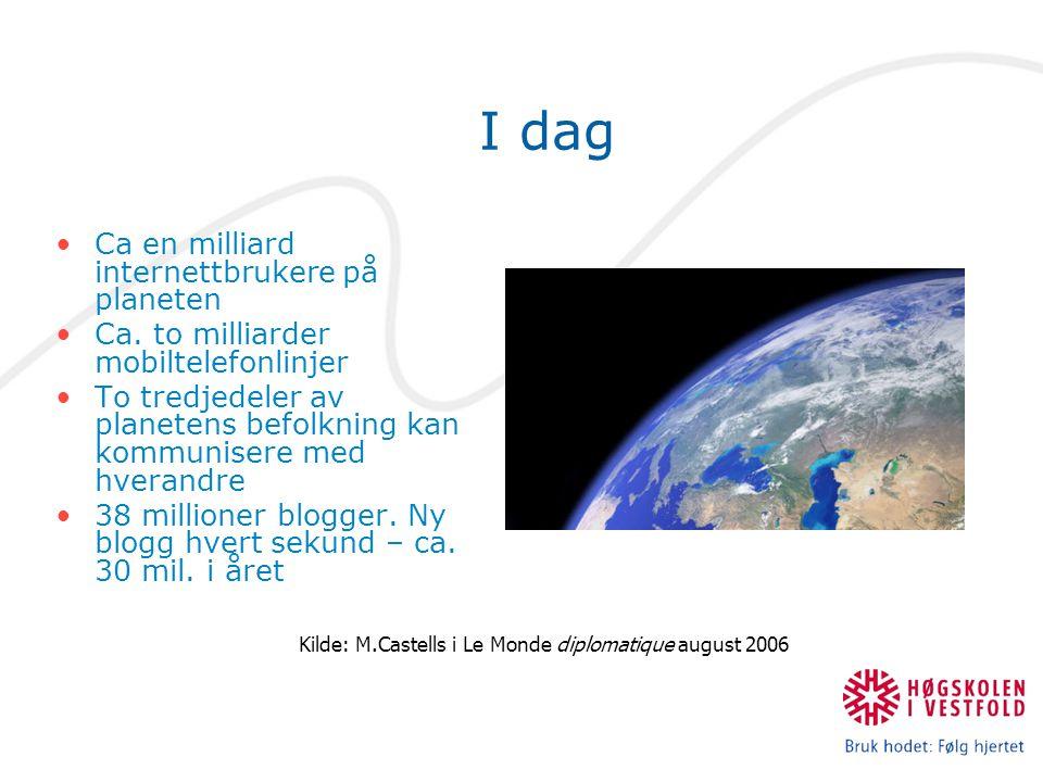 Kilde: M.Castells i Le Monde diplomatique august 2006