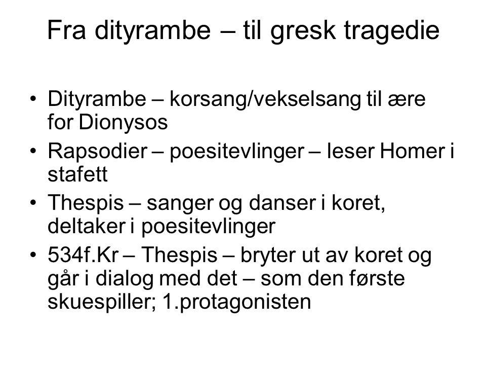 Fra dityrambe – til gresk tragedie