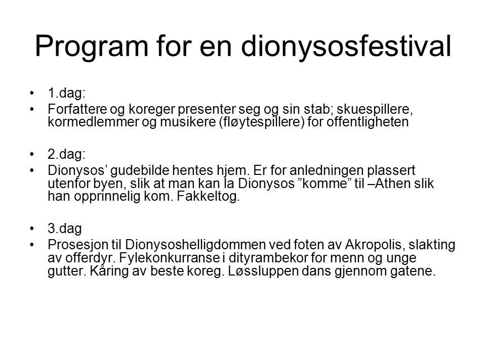 Program for en dionysosfestival