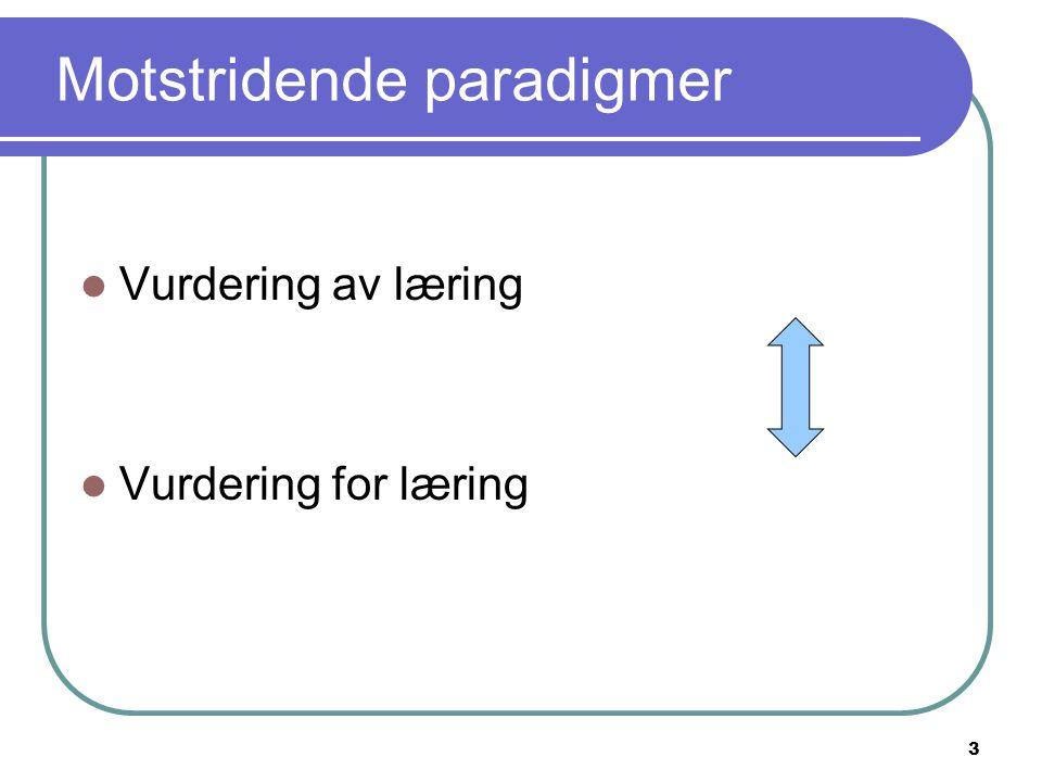 Motstridende paradigmer