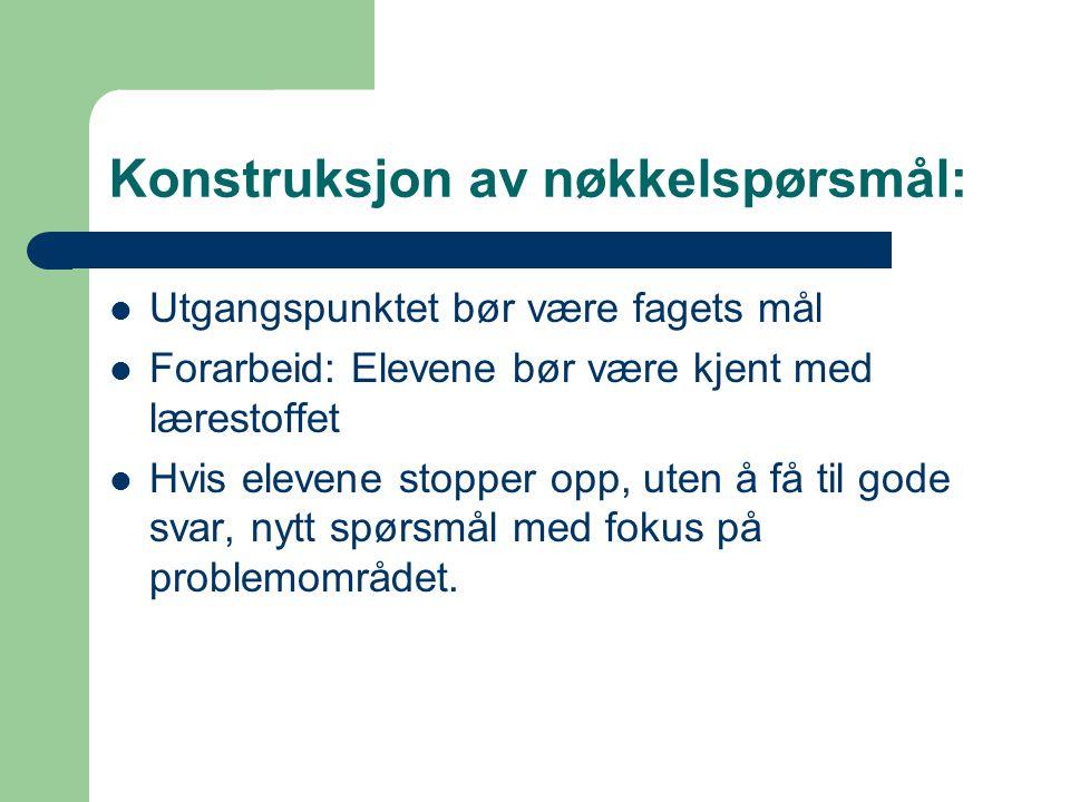 Konstruksjon av nøkkelspørsmål: