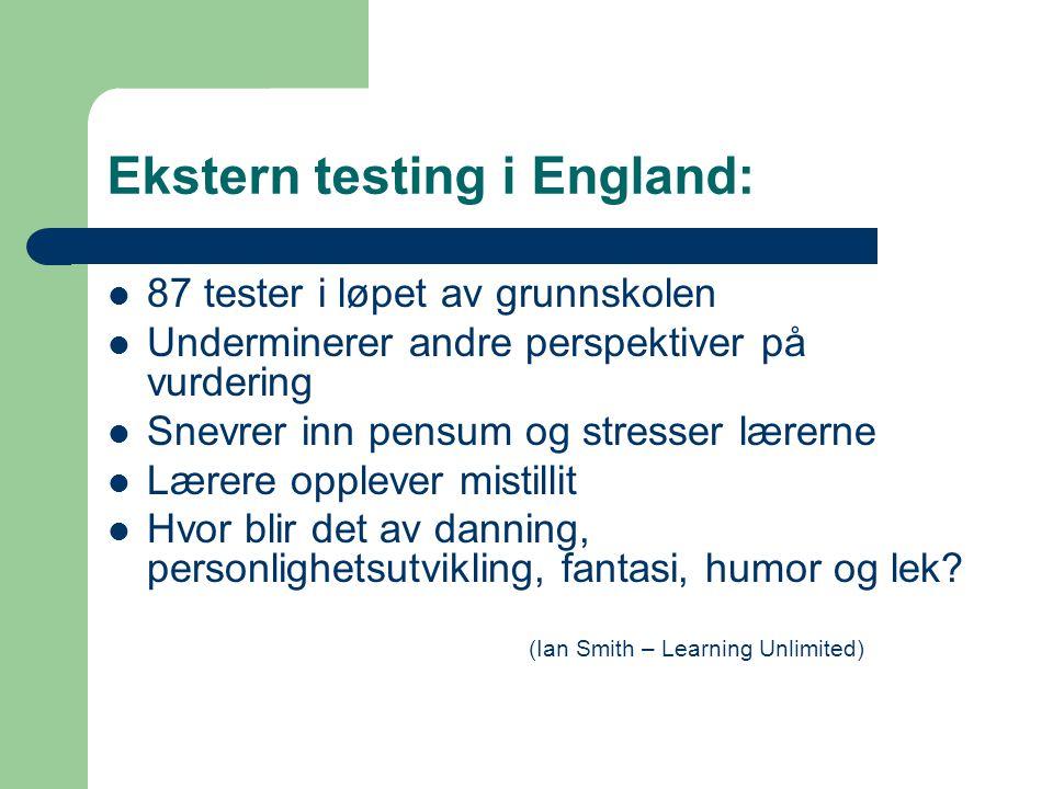 Ekstern testing i England: