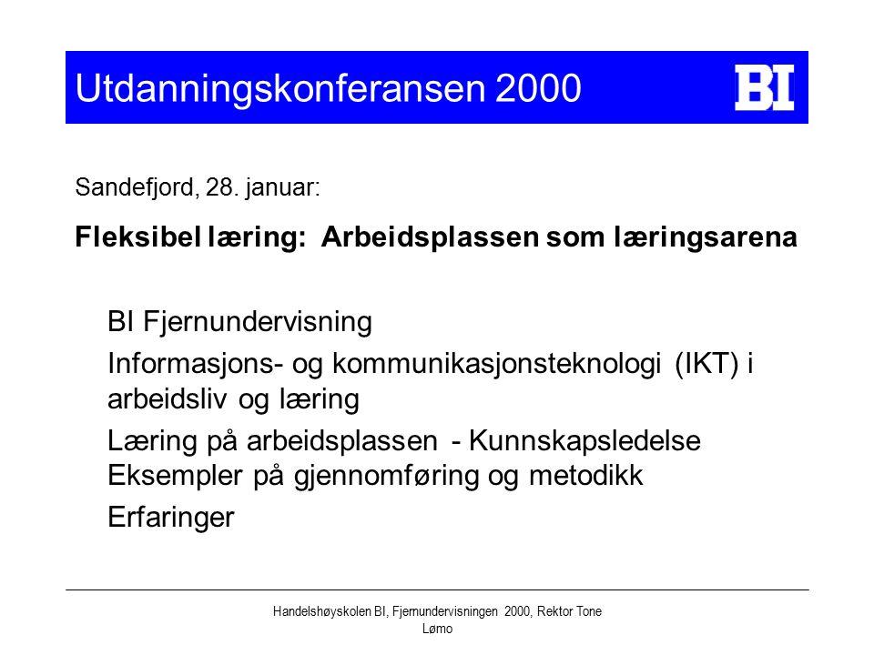 Utdanningskonferansen 2000
