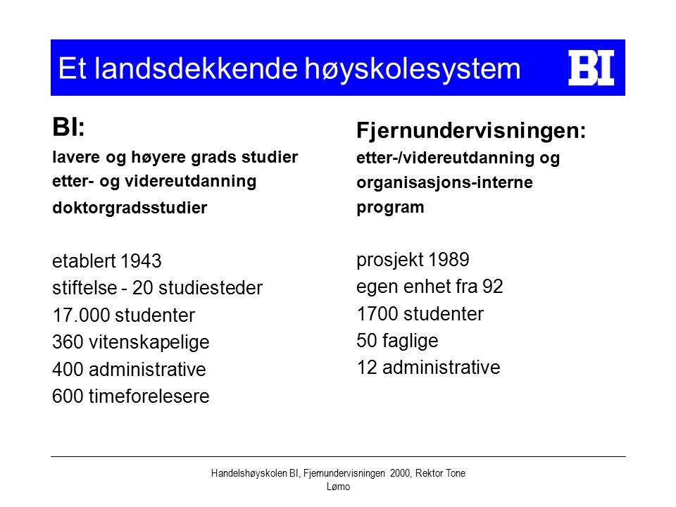 Et landsdekkende høyskolesystem