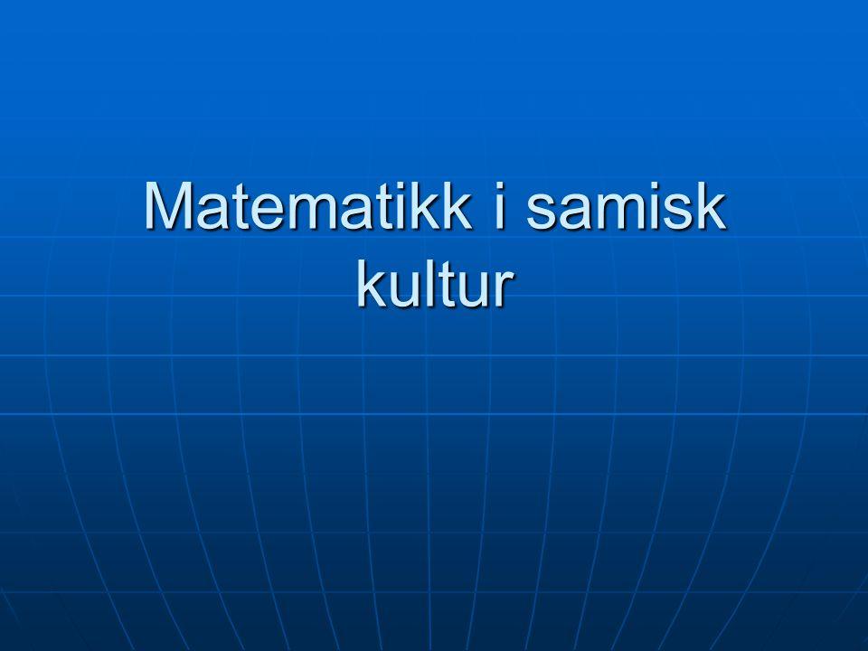 Matematikk i samisk kultur