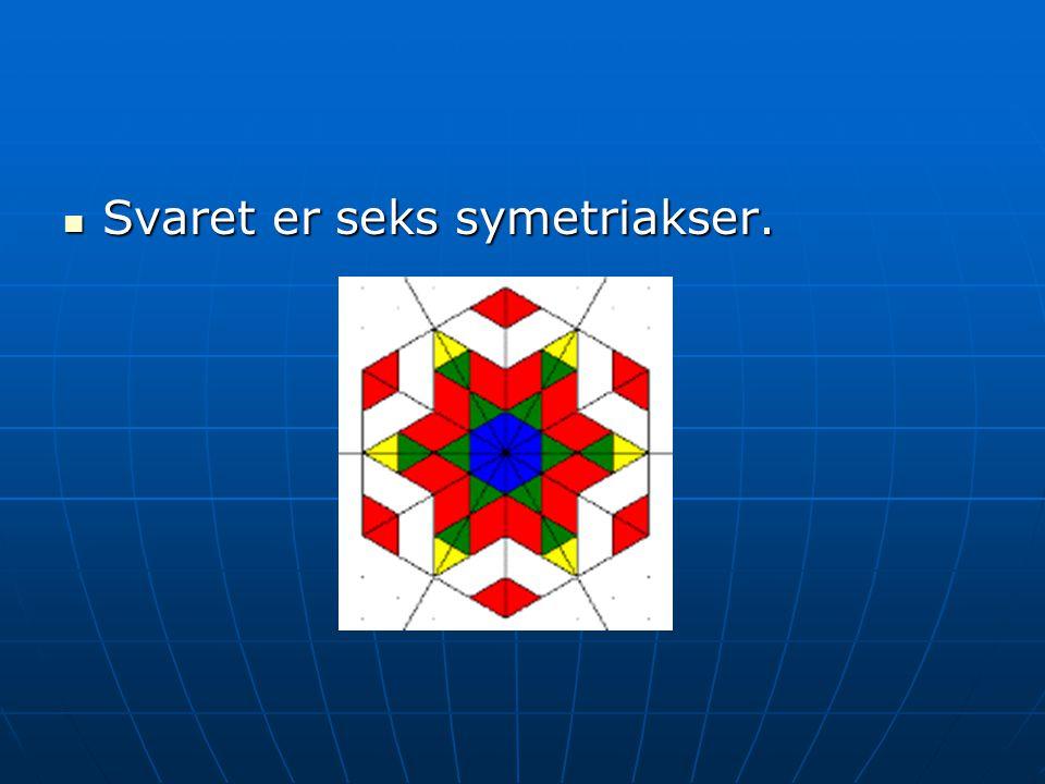 Svaret er seks symetriakser.