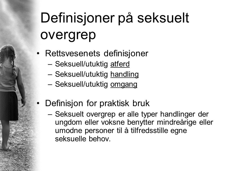 Definisjoner på seksuelt overgrep
