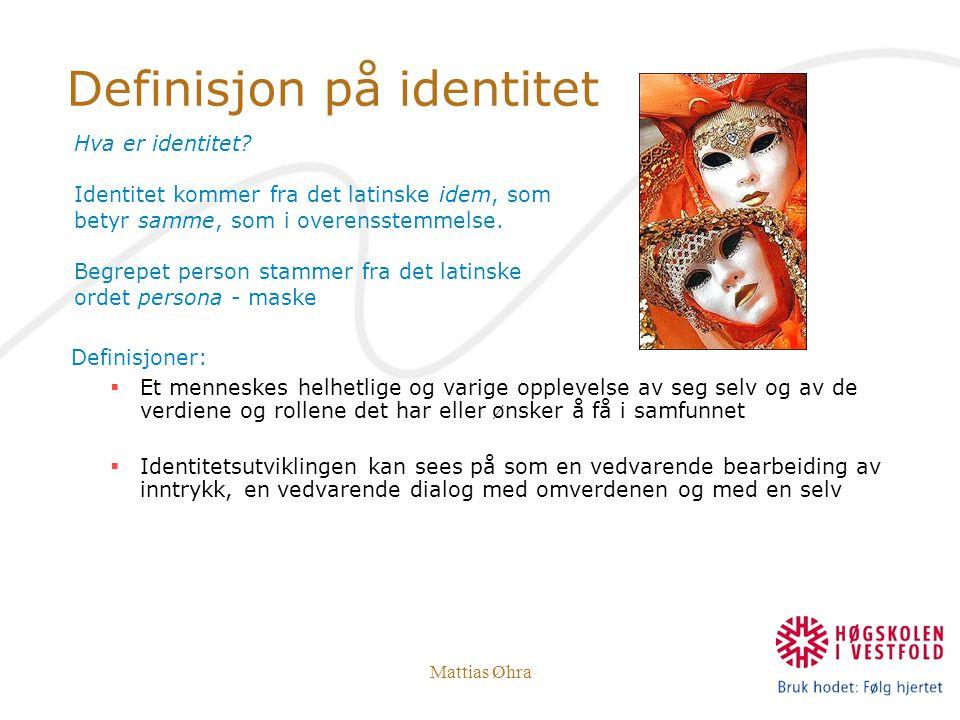 Definisjon på identitet