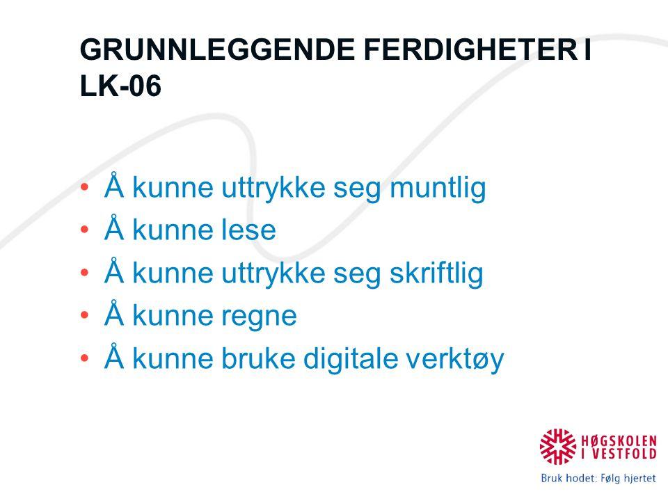 GRUNNLEGGENDE FERDIGHETER I LK-06
