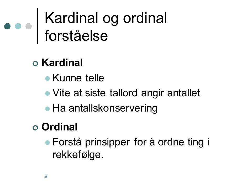 Kardinal og ordinal forståelse
