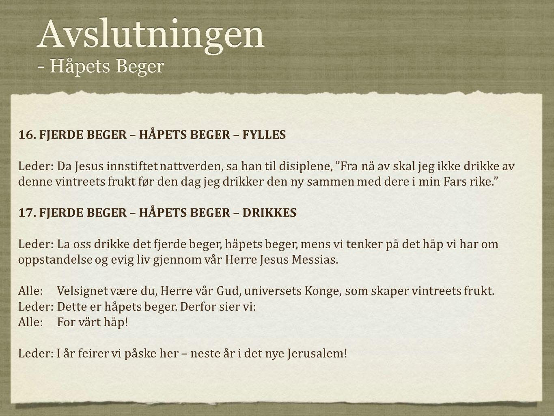 Avslutningen - Håpets Beger
