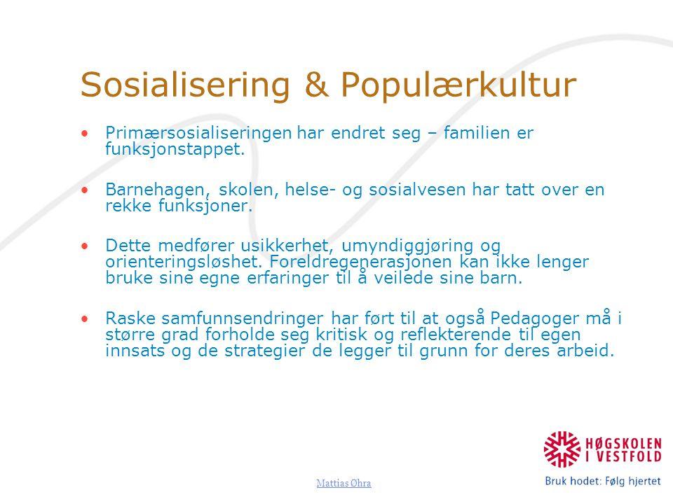 Sosialisering & Populærkultur