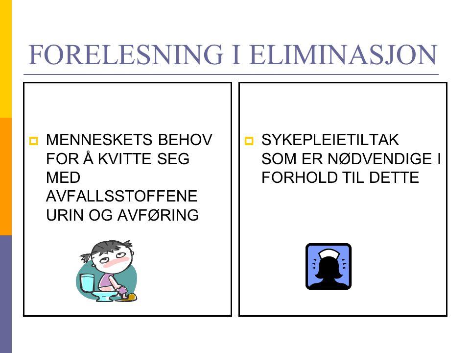 FORELESNING I ELIMINASJON