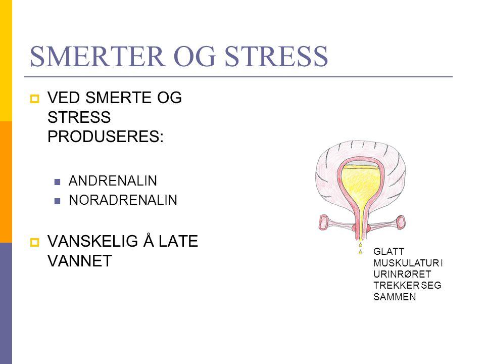 SMERTER OG STRESS VED SMERTE OG STRESS PRODUSERES: