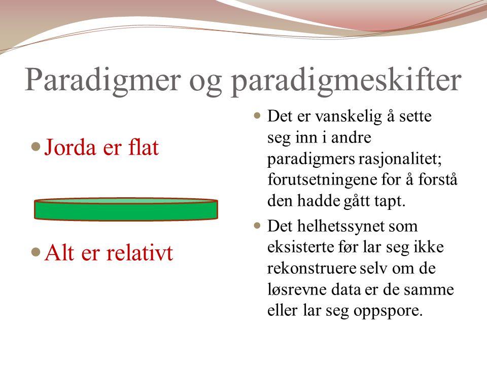 Paradigmer og paradigmeskifter