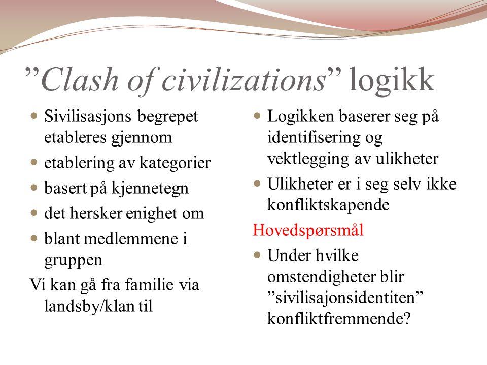 Clash of civilizations logikk