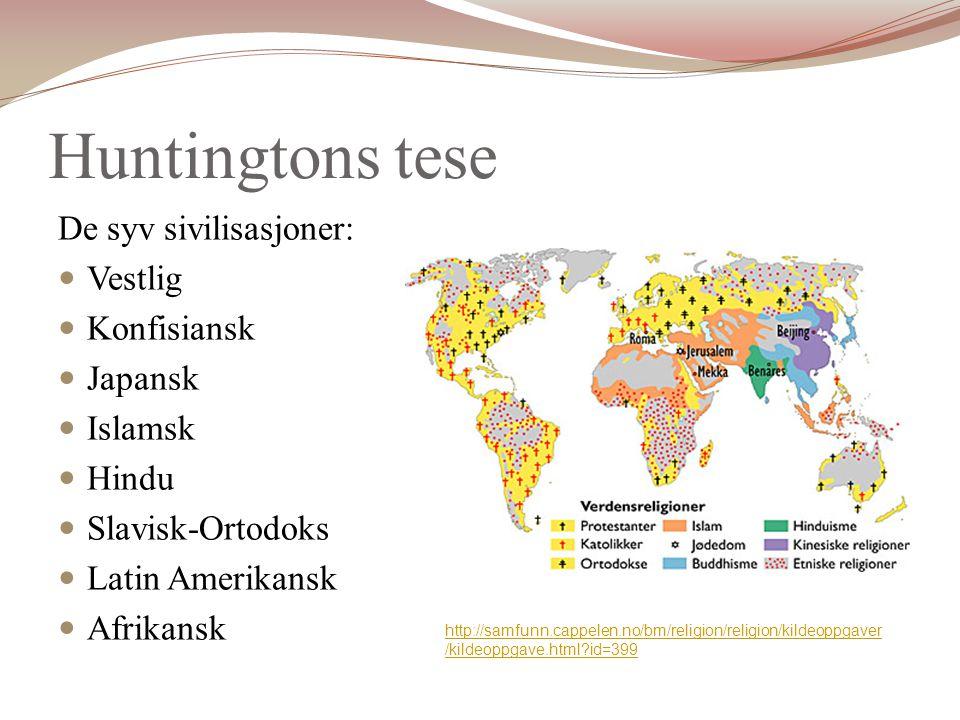 Huntingtons tese De syv sivilisasjoner: Vestlig Konfisiansk Japansk