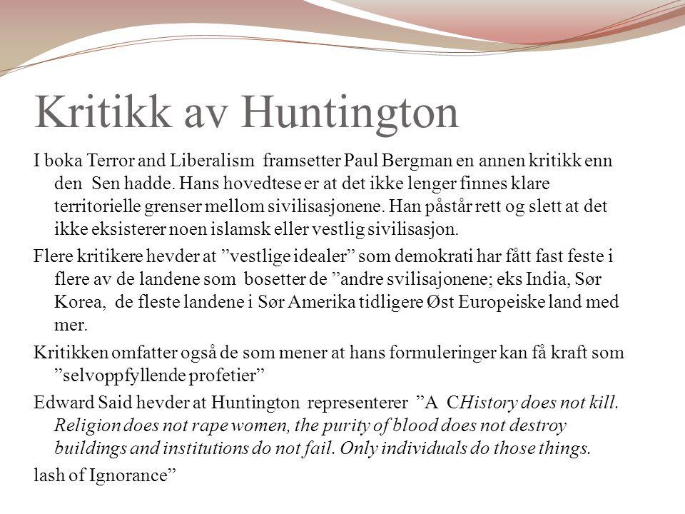 Kritikk av Huntington