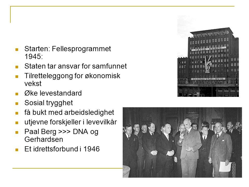 Starten: Fellesprogrammet 1945: Staten tar ansvar for samfunnet