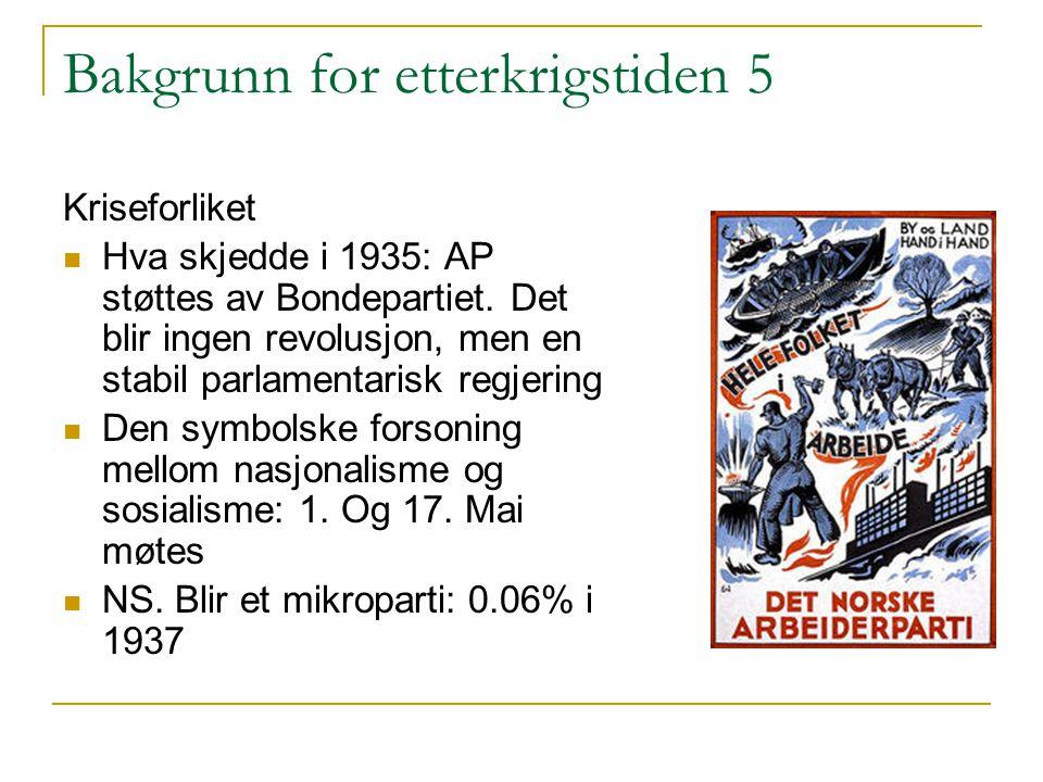 Bakgrunn for etterkrigstiden 5