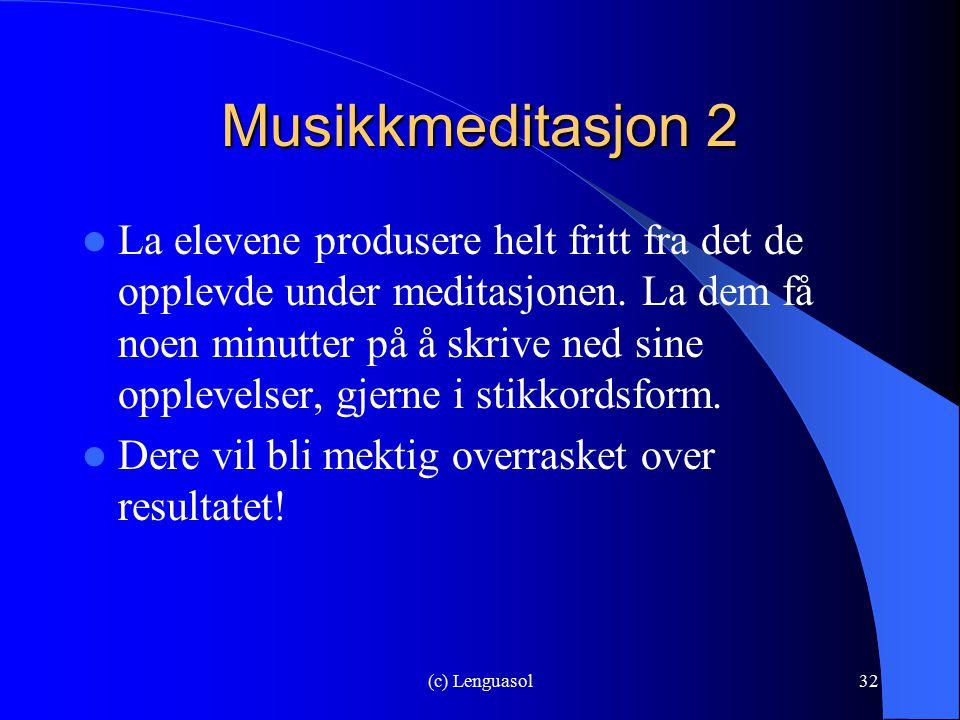 Musikkmeditasjon 2