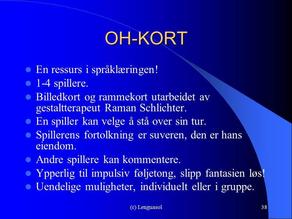 OH-KORT En ressurs i språklæringen! 1-4 spillere.
