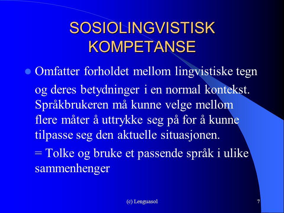 SOSIOLINGVISTISK KOMPETANSE