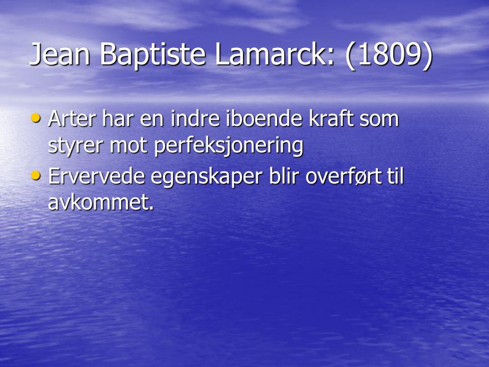 Jean Baptiste Lamarck: (1809)