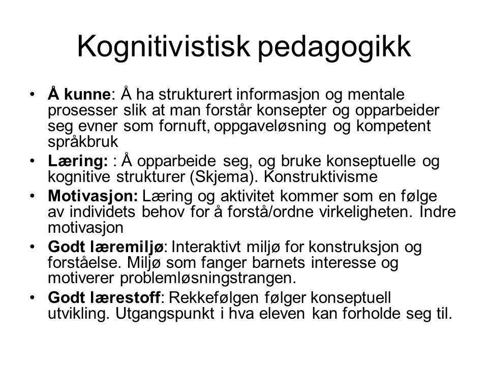 Kognitivistisk pedagogikk