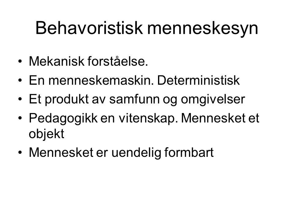 Behavoristisk menneskesyn
