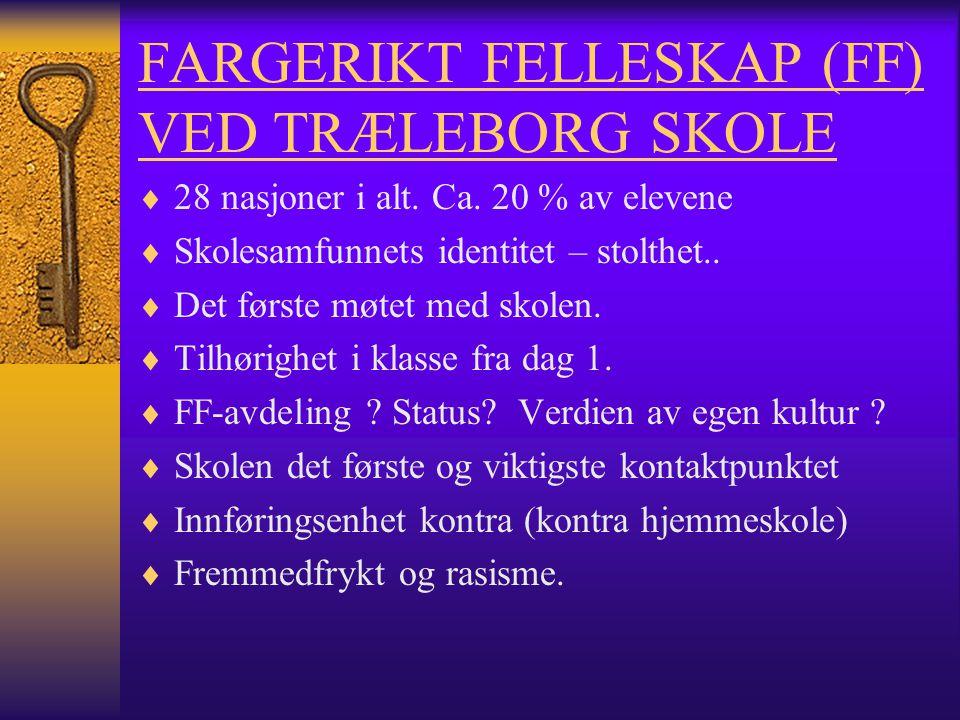FARGERIKT FELLESKAP (FF) VED TRÆLEBORG SKOLE