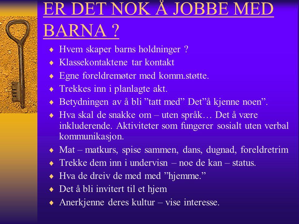 ER DET NOK Å JOBBE MED BARNA