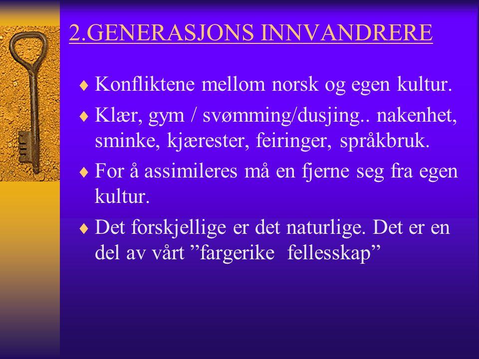 2.GENERASJONS INNVANDRERE