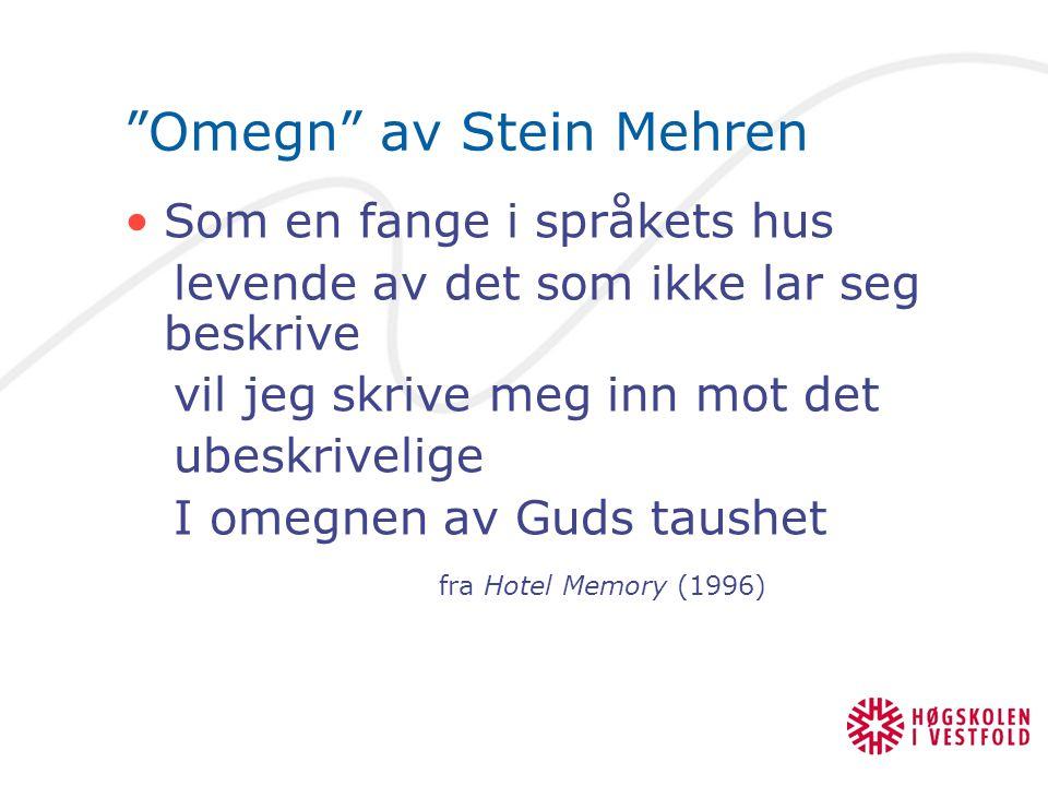 Omegn av Stein Mehren