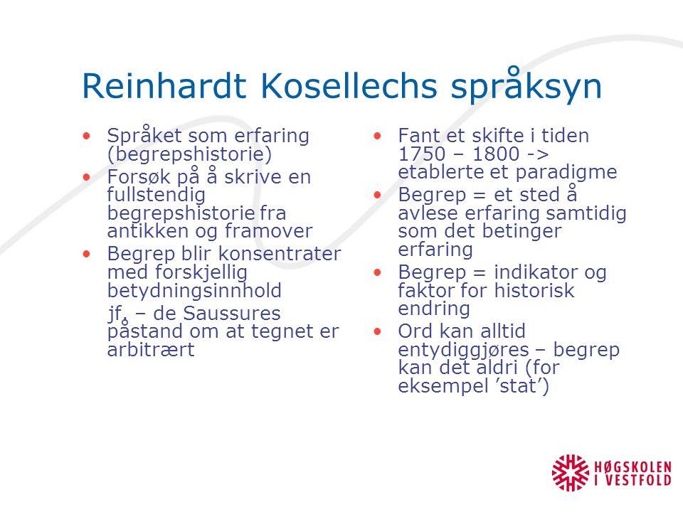 Reinhardt Kosellechs språksyn