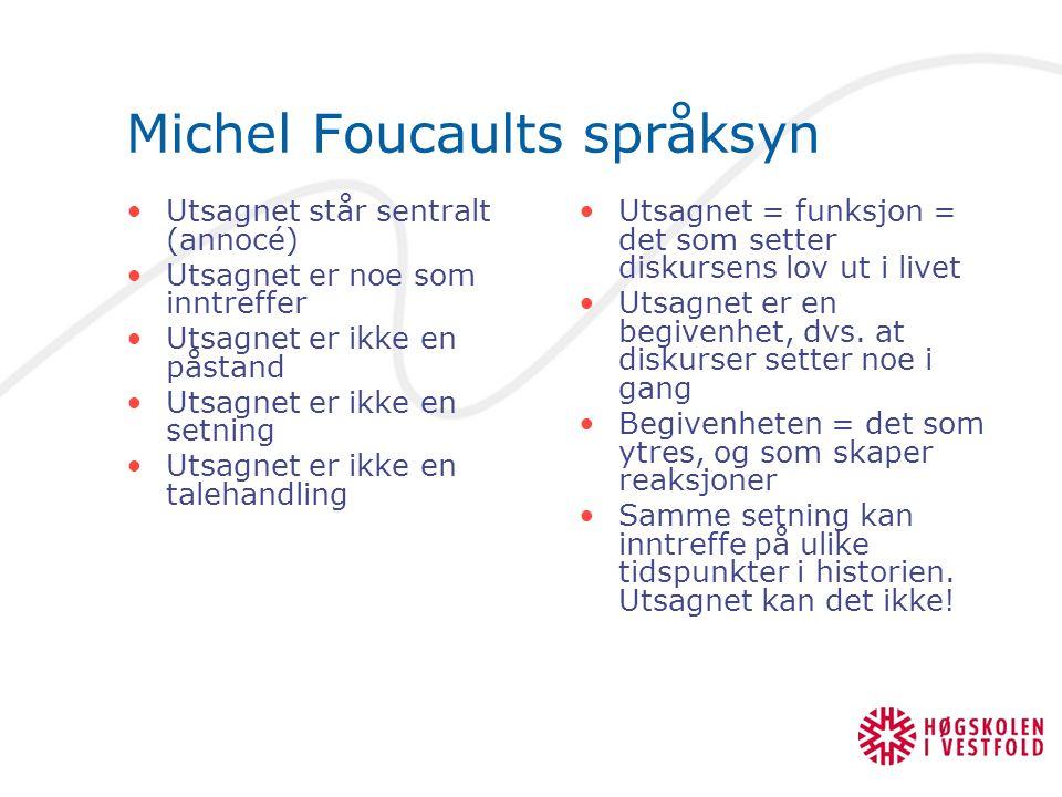 Michel Foucaults språksyn