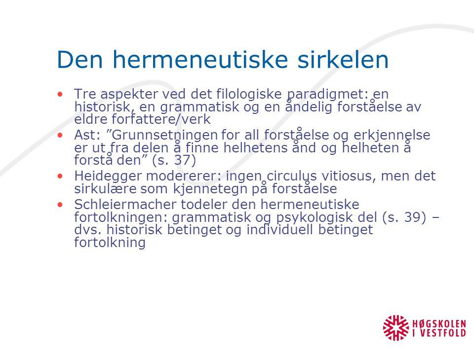 Den hermeneutiske sirkelen